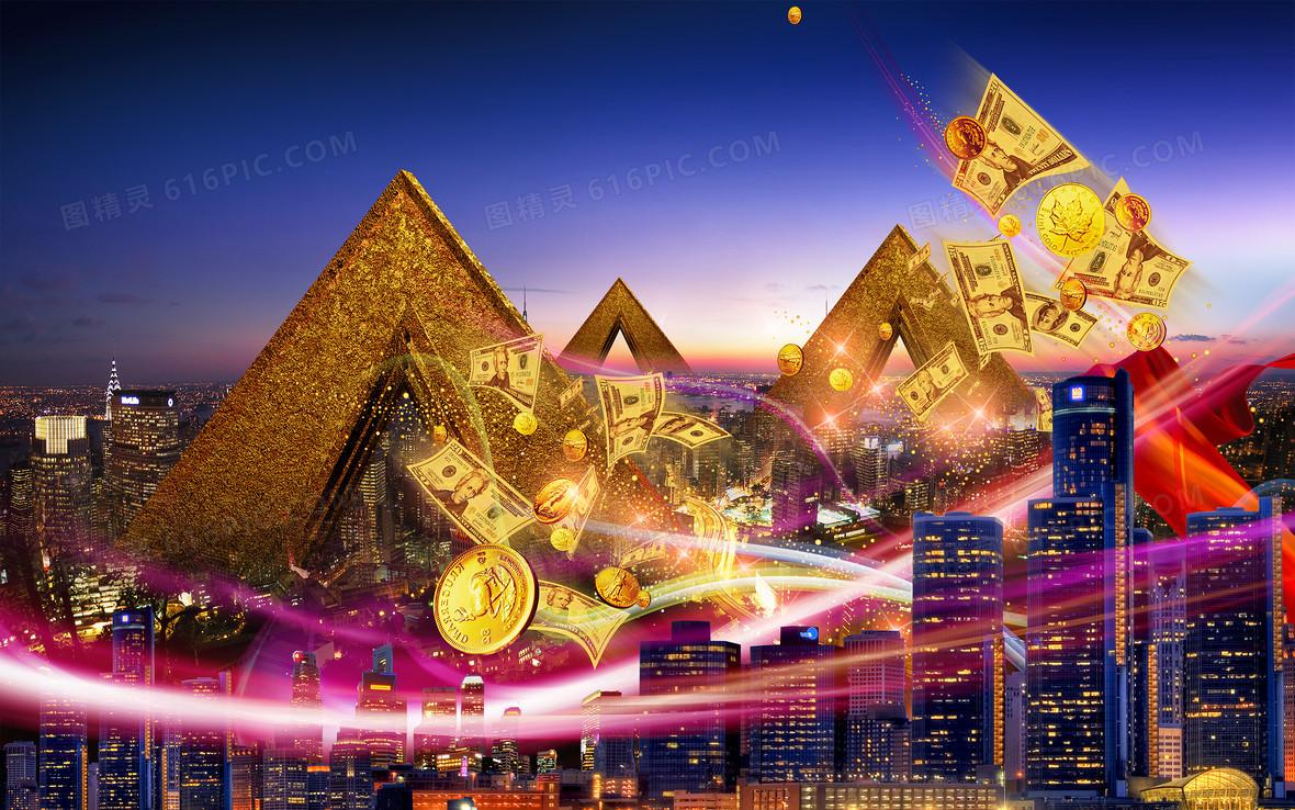 商业金融海报背景素材