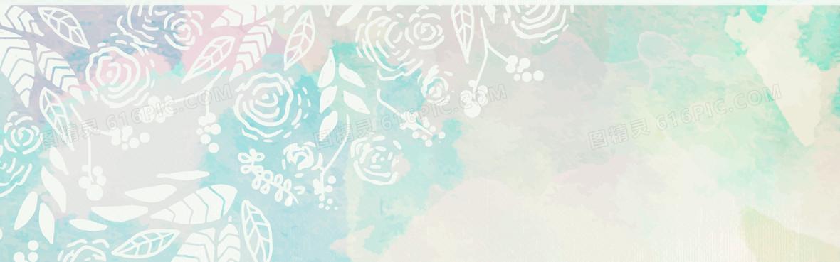 淡雅花纹背景背景图片下载_1920x600像素jpg格式_图
