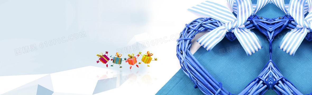 蓝色商务金融或手机app宣传banner