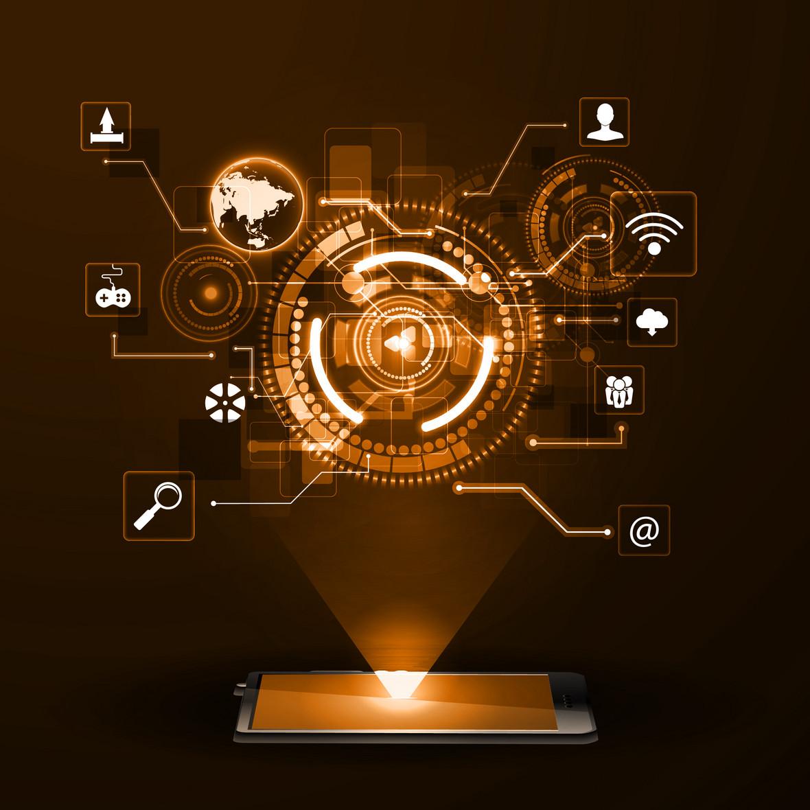 光效信息商务黑科技背景素材