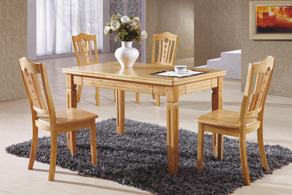 家居设计实木餐桌海报背景素材