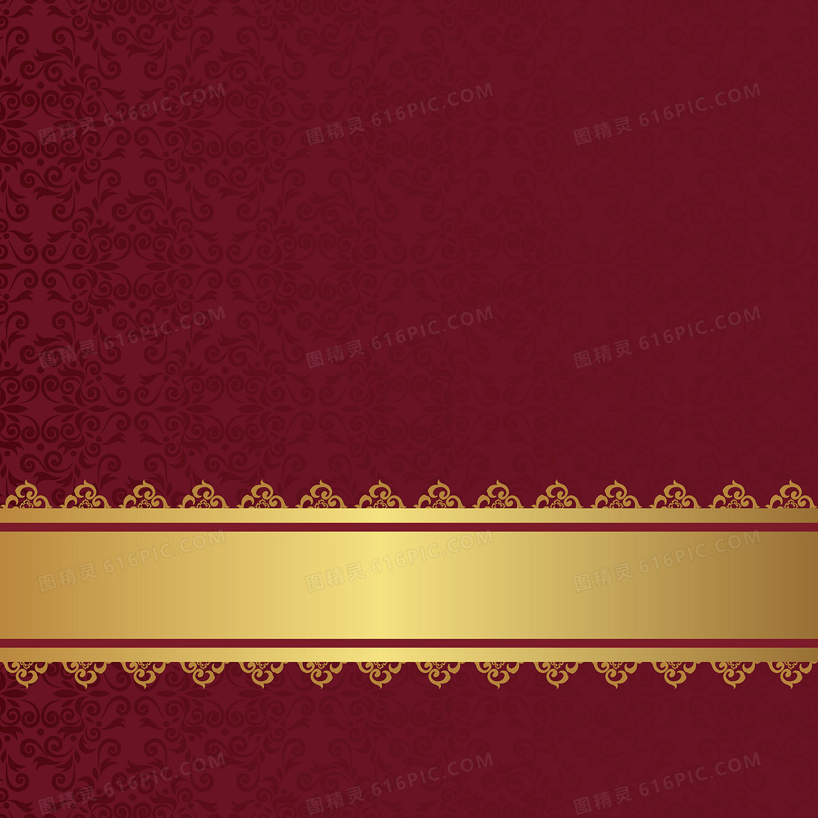 酒红色花纹背景矢量背景