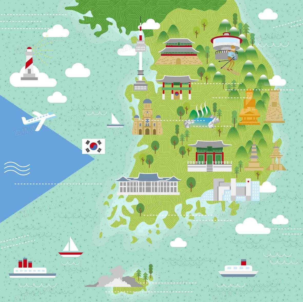 手绘香港旅游