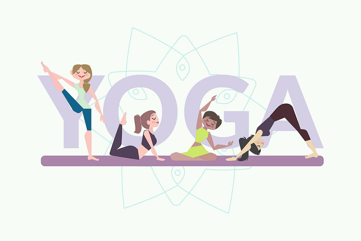 瑜伽健身舞蹈海报背景