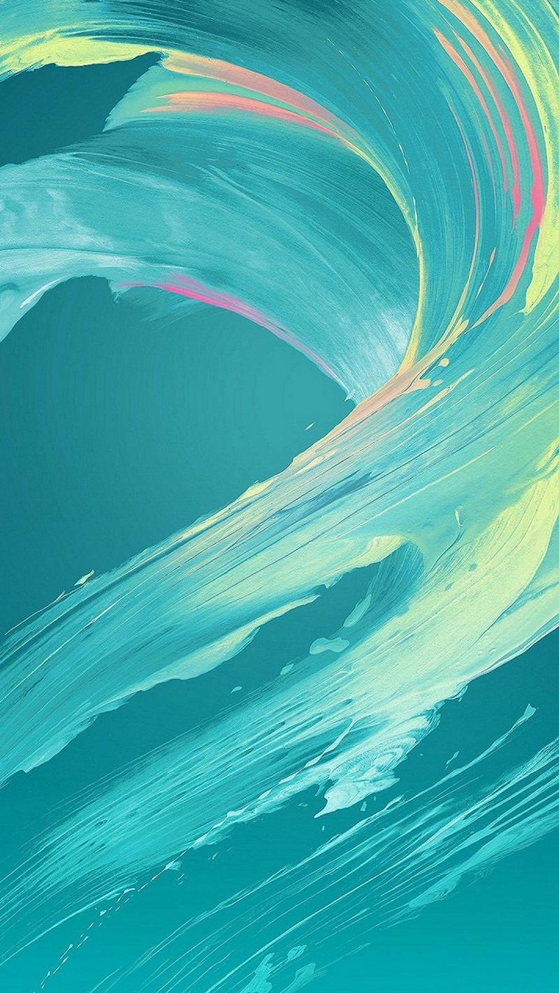 蓝色水彩渐变颜料app手机端h5背景