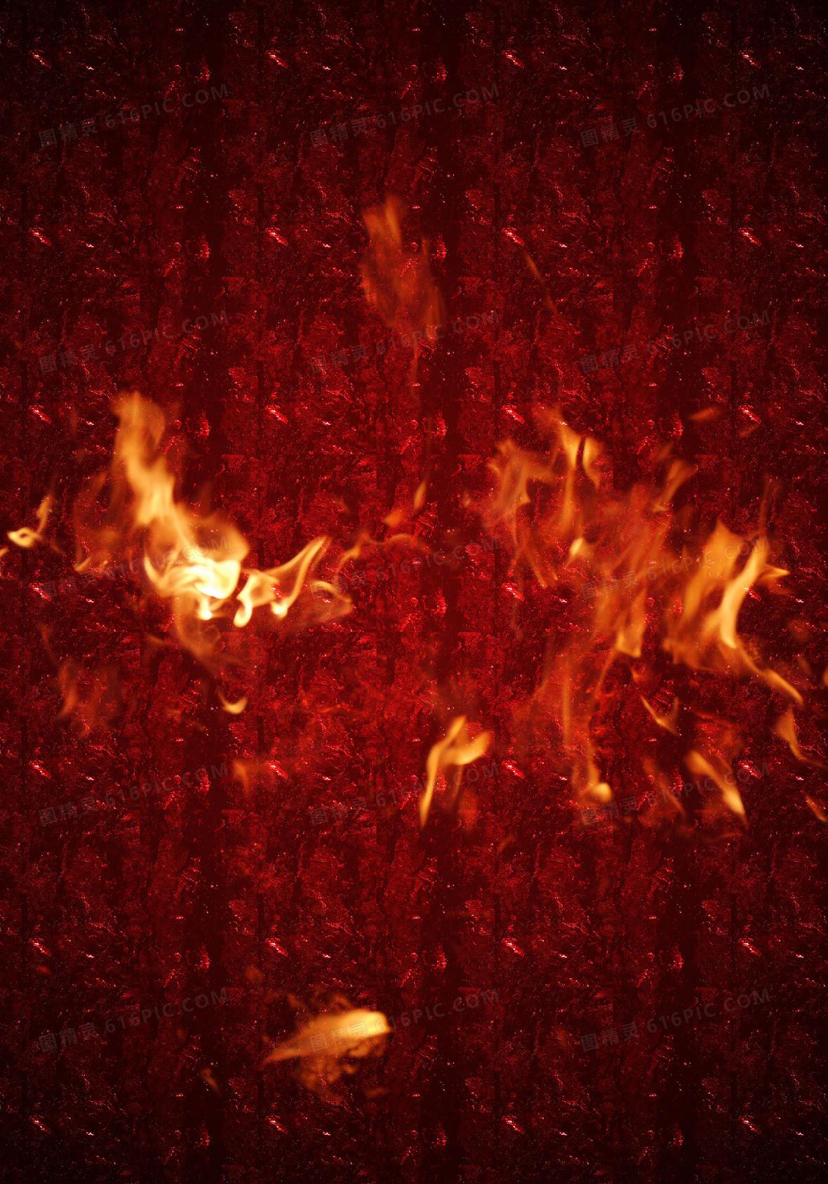 燃烧的火苗背景素材
