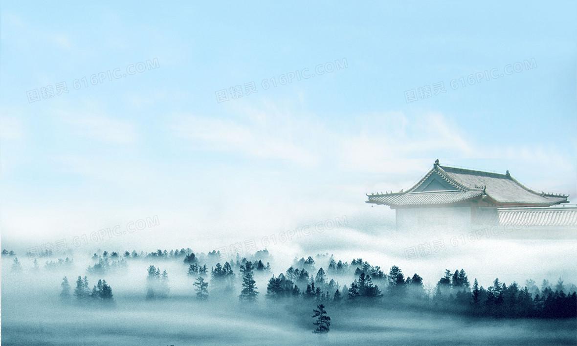 中国风传统建筑背景素材