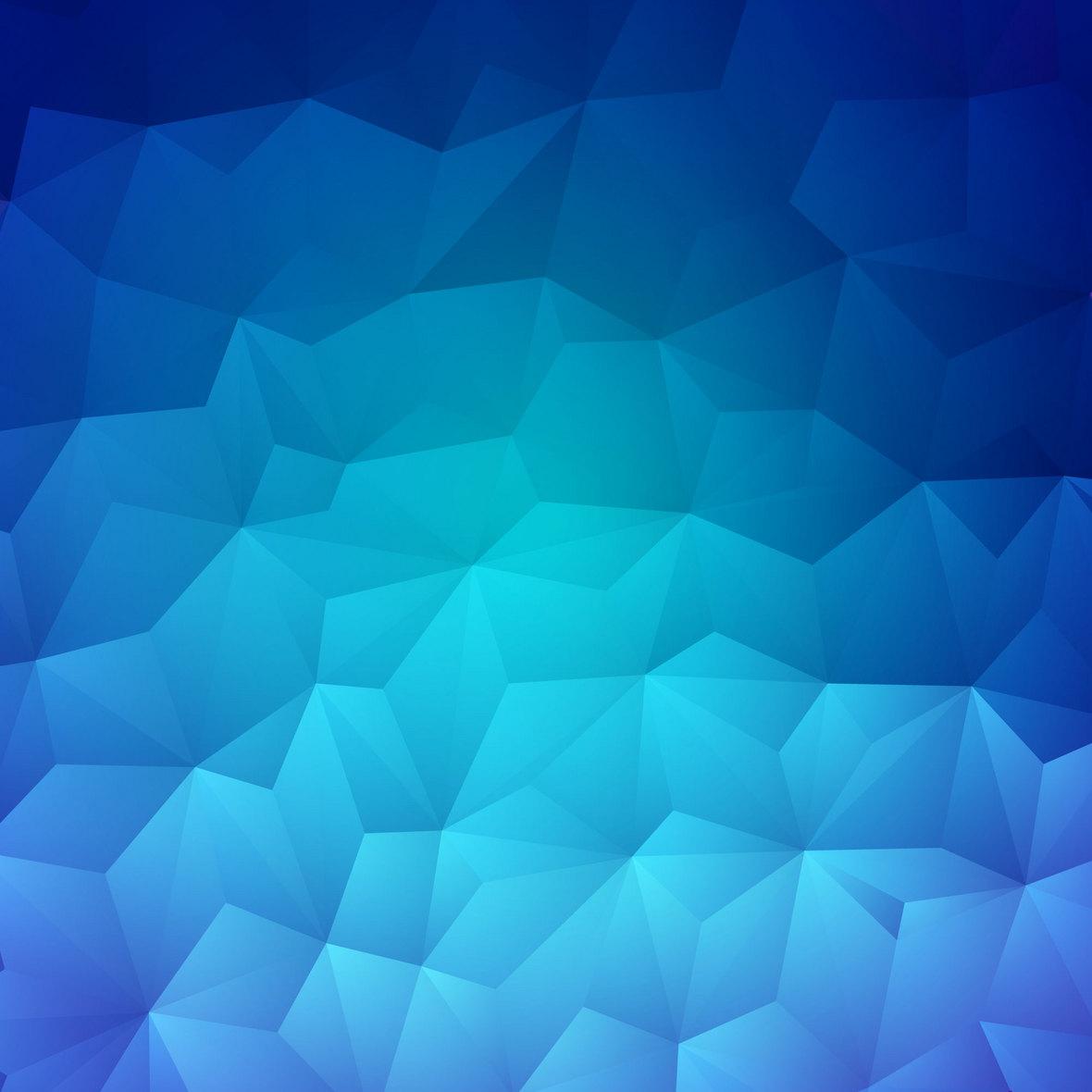 时尚蓝色渐变几何菱形背景