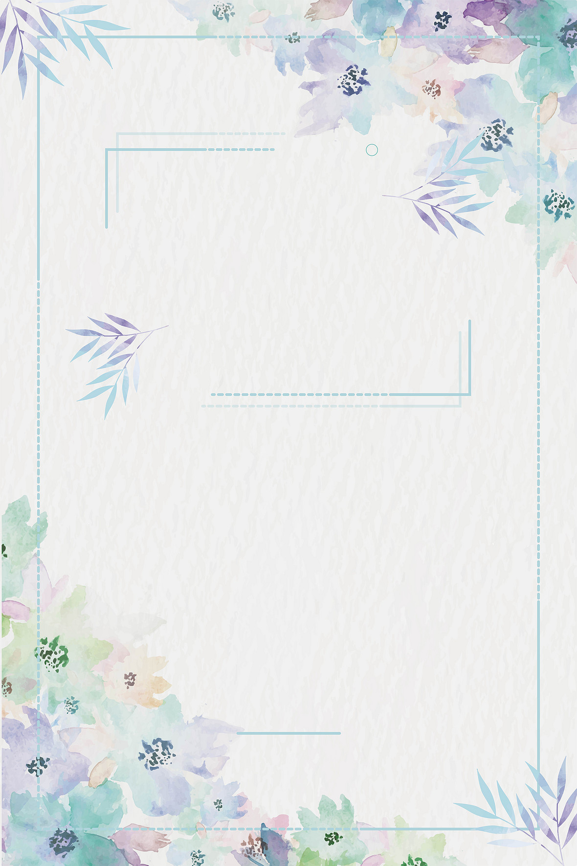 矢量小清新花卉夏季促销海报背景