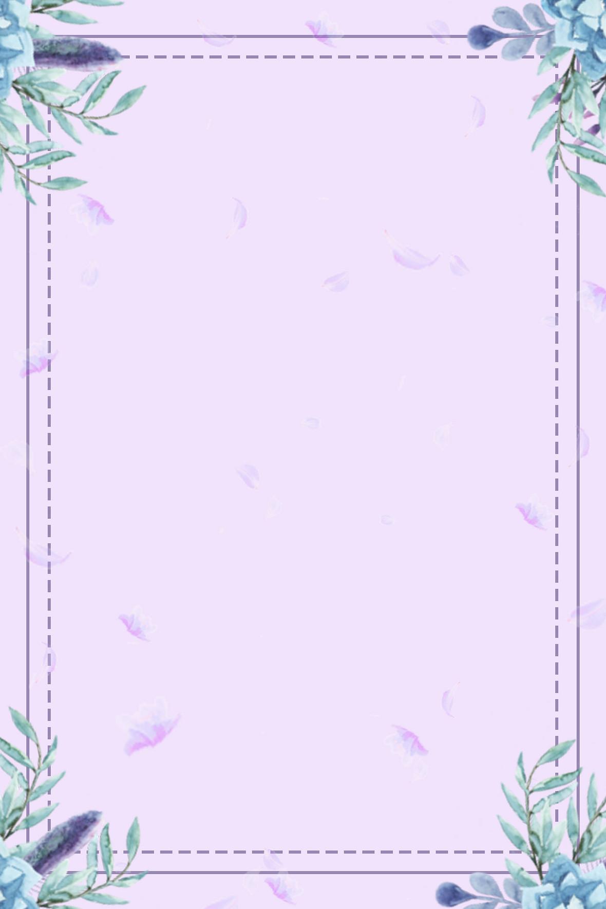夏天紫色花束清新海报背景