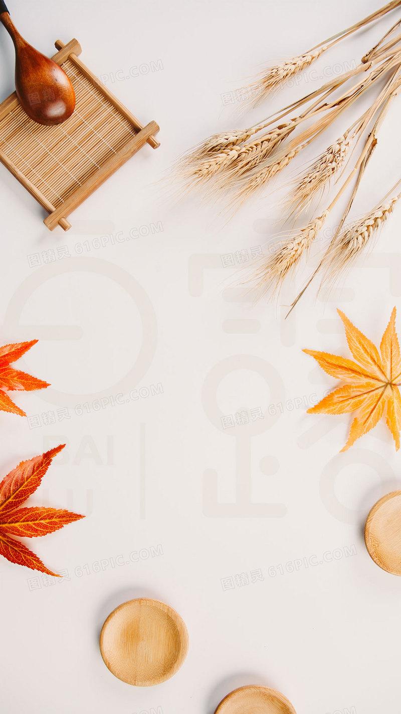 秋色商业节日营养早餐美食h5背景素材