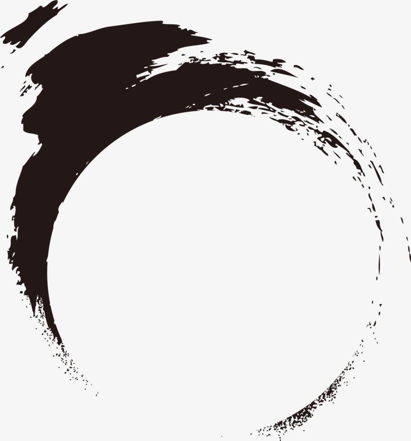 墨迹水墨圆圈中国风图片免费下载_高清png素材_图精灵