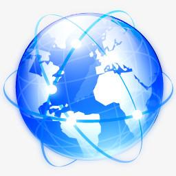 浏览器地球全球全球国际互联网网络行星世界水晶项目