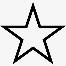 空心的五角星图标图片免费下载 Png素材 编号vd9idkerz 图精灵