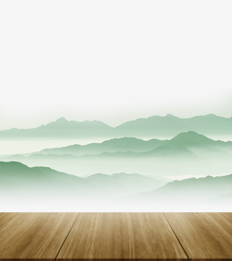 中国风木台远山图片免费下载_高清png素材_图精灵