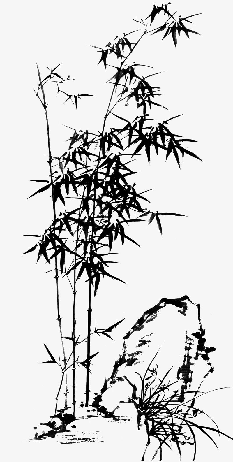 水墨竹子图片免费下载_高清png素材_图精灵