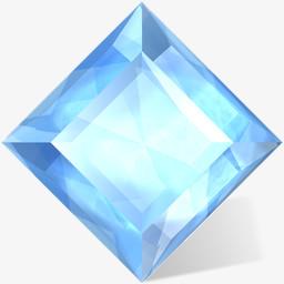 蓝色的宝石图标图片免费下载 Png素材 编号vd9i46d2z 图精灵