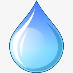 蓝色的小水滴图标图片免费下载 Png素材 编号z2riq4rlv 图精灵