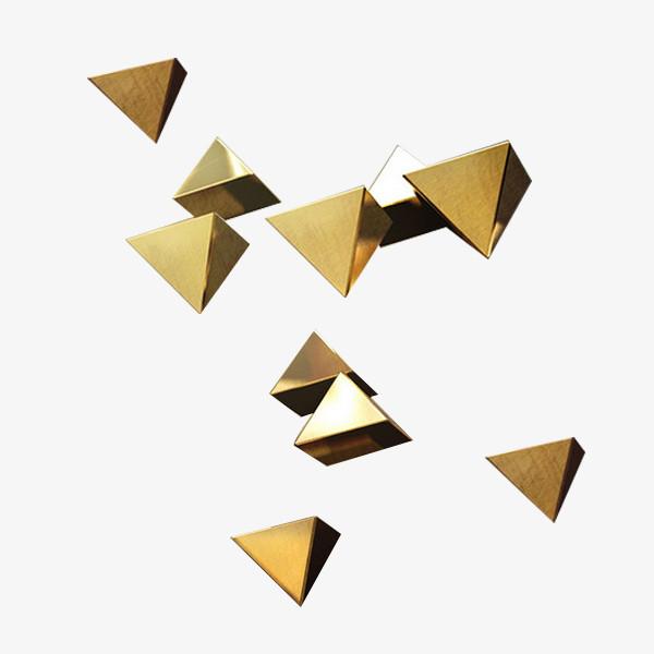 金色边框三角形立体元素图片免费下载_高清png素材_图