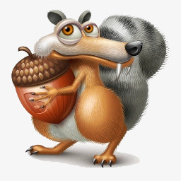 卡通小松鼠图片免费下载 Png素材 编号vd9iede8z 图精灵