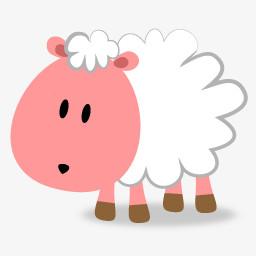 粉红小羊图片免费下载 Png素材 编号13gie4w6g 图精灵