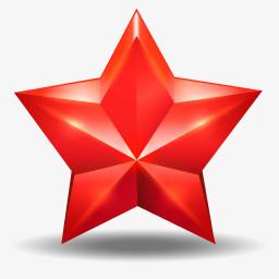 红色的五角星图标图片免费下载 Png素材 编号14niq5yxp 图精灵