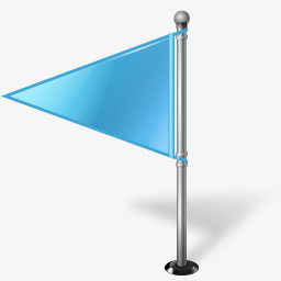 蓝色的三角旗图标图片免费下载 Png素材 编号vgpin0dx7 图精灵