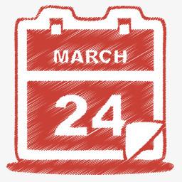 红色日历图标图片免费下载 Png素材 编号1pkiw5jon 图精灵