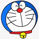 微笑情感表情符号快乐哆啦A梦