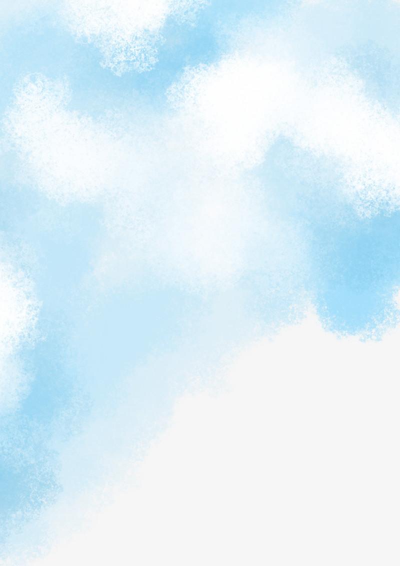 水彩蓝天白云图片免费下载_高清png素材_图精灵