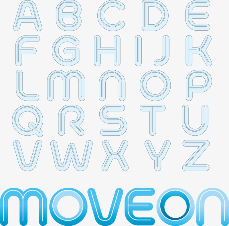 矢量图创意英文字母合集