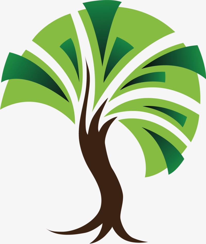 矢量图抽象图大树绿叶
