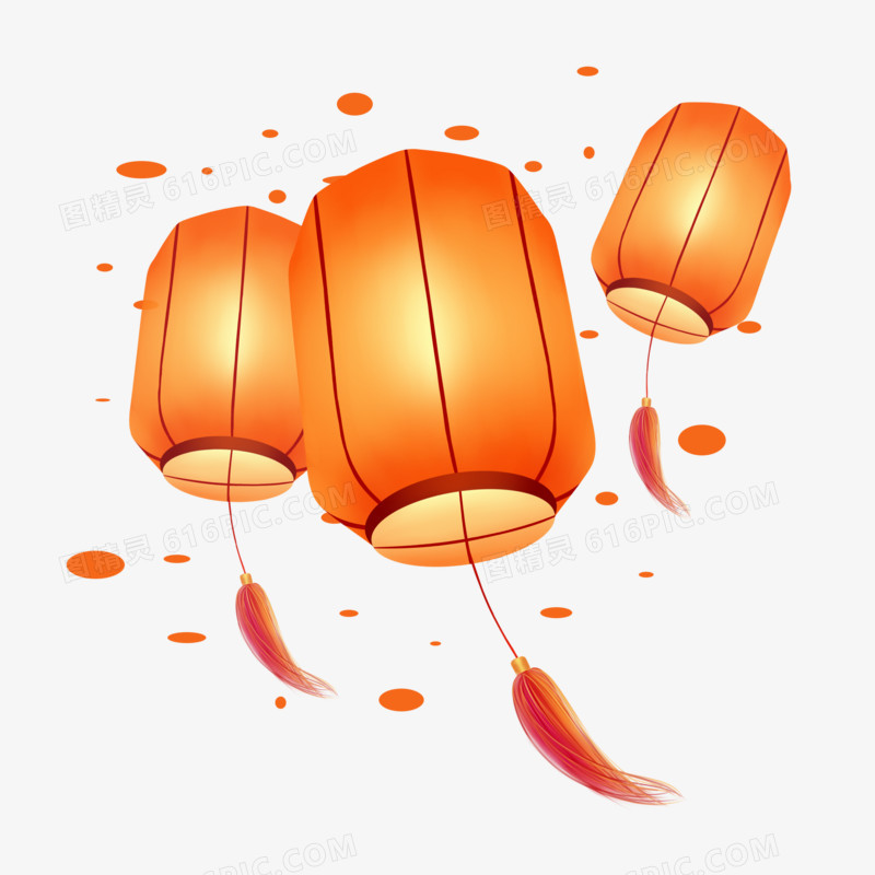 中秋节节日圆柱形灯笼