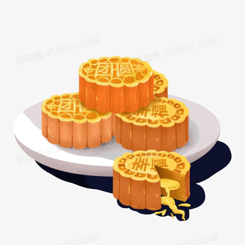 中秋月饼免扣元素