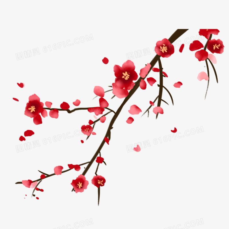 古典中国风梅花手绘元素