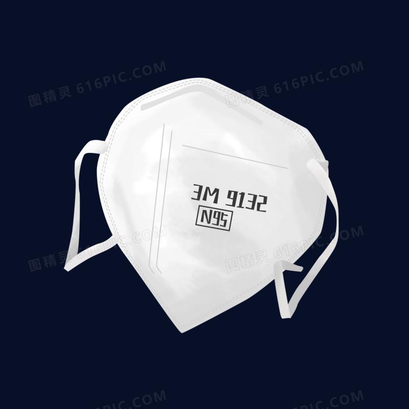 手绘卡通医用N95口罩