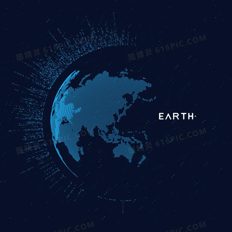 科技数字地球元素