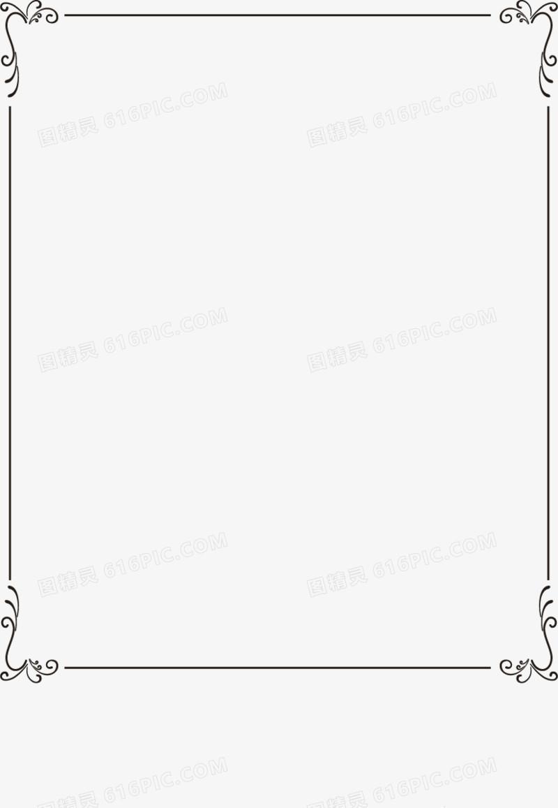 矢量手绘欧式边框