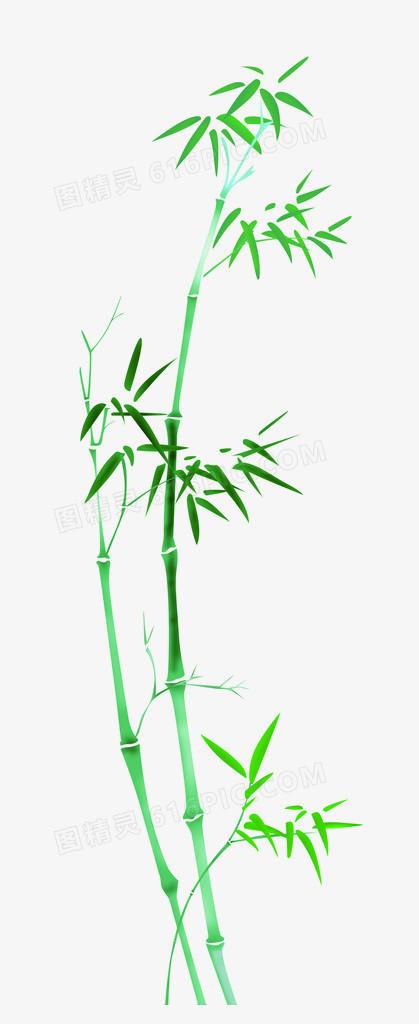 卡通竹叶图片手绘素材 卡通清新竹子