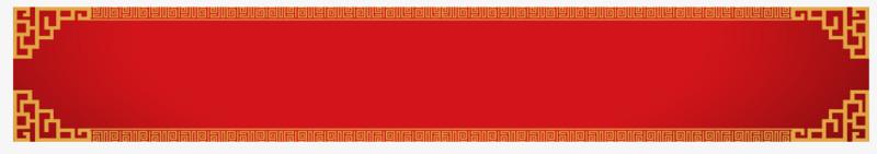 中国红红色中国风标题框