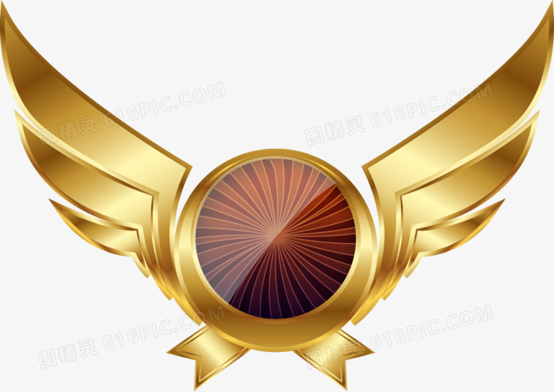 金色炫酷游戏翅膀图片免费下载_高清png素材_图精灵