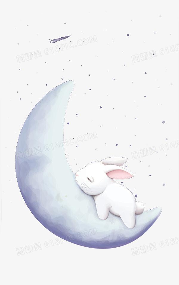 睡在月亮上的兔子
