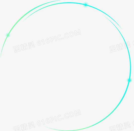 蓝色炫光圆形边框图片免费下载_高清png素材_图精灵