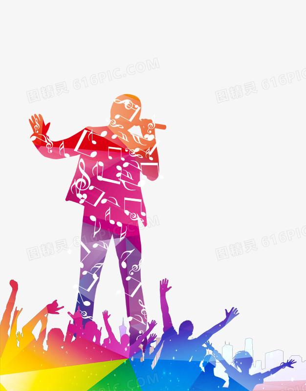 绚丽唱歌比赛海报图片免费下载_高清png素材_图精灵