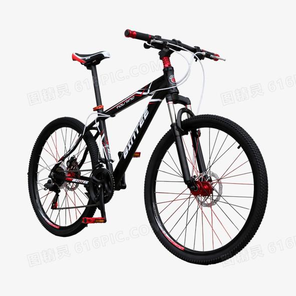 高清黑色仰视实物自行车免抠素材