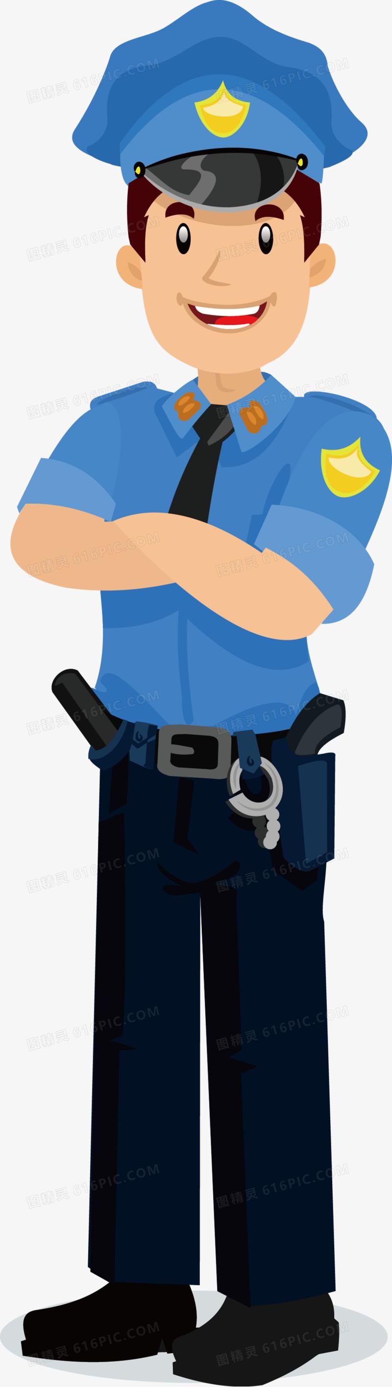 卡通保安矢量图图片