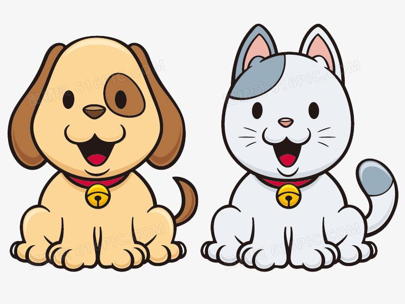 卡通动物猫狗图片免费下载_高清png素材_图精灵