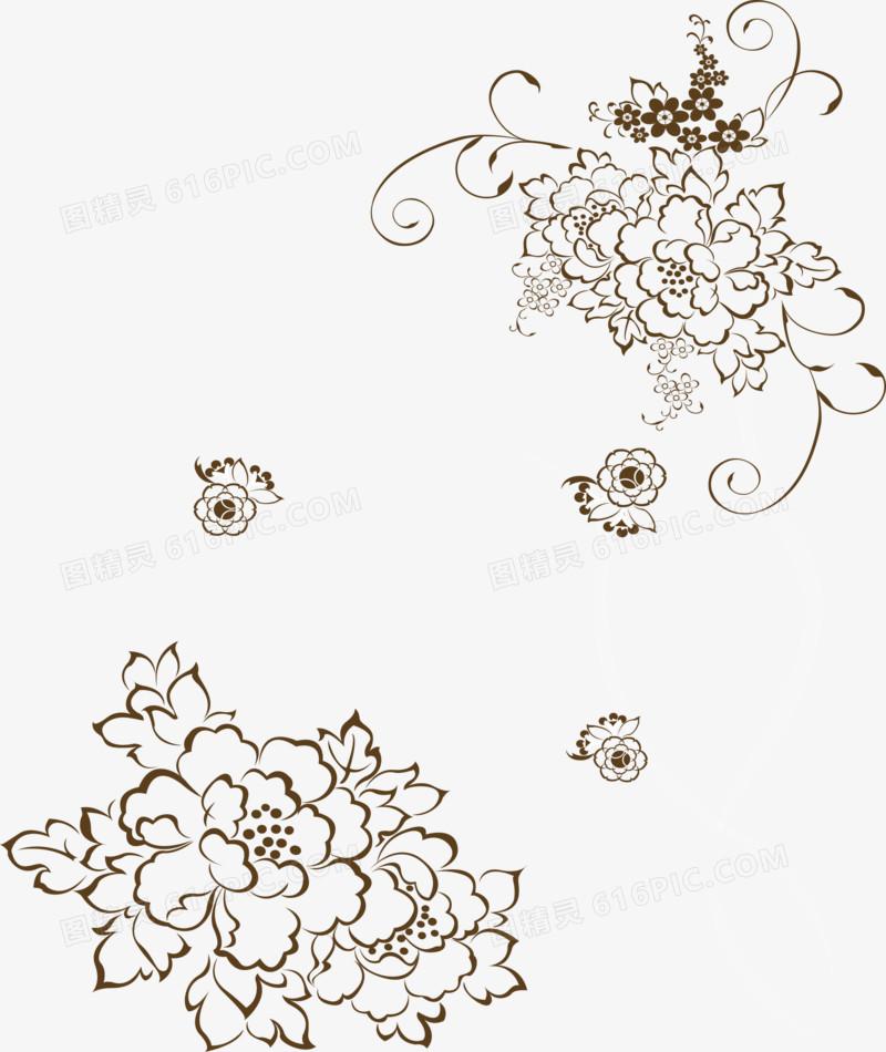 图精灵 免抠元素 装饰图案 > 古典牡丹背景花纹   图精灵为您提供古典
