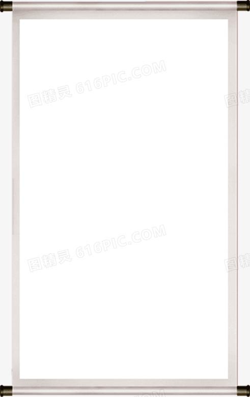 中国风空白卷轴画轴图片免费下载_高清png素材_图精灵