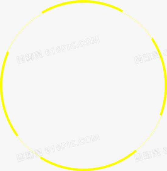圆形黄色边框图片免费下载_高清png素材_图精灵